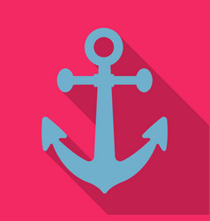 Anchor icon in flat style isolated on white vector