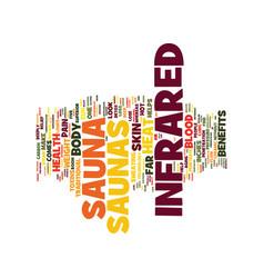 Five health benefits of infrared saunas text vector