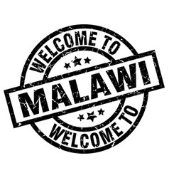 Welcome to malawi black stamp vector