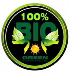 natural and bio symbol tag vector image