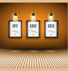 Lights on frames vector image