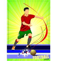 al 0345 soccer poster 02 vector image