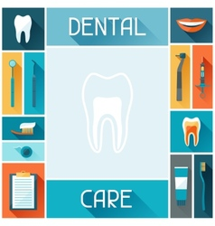 Medical background design with dental icons vector