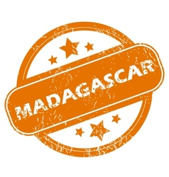 Madagascar grunge icon vector