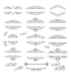 Swirls Vintage Design Elements vector image