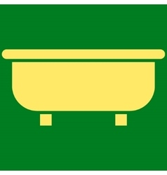 Bathtub flat symbol vector