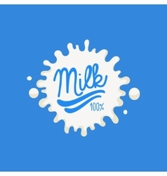 Double underline milk product logo vector