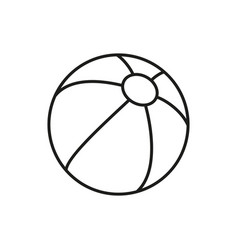 Ball for kid icon on white background vector