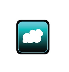 button of cloud art vector image vector image