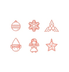 Christmas Icons 3 Line Expanded vector image vector image