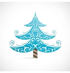 Christmas tree as symbol for winter Holidays vector image vector image