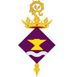 Coat of arms of sant adria de besos in barcelona vector