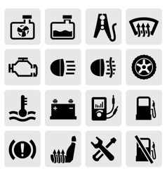 dashboard and auto icons vector image vector image