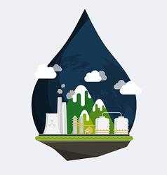 Ecology Concept Industrial landscape Plant or vector image