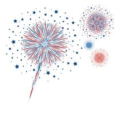 Fireworks design on white background vector image vector image