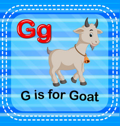 Flashcard letter g is for goat vector