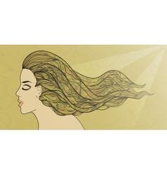 Golden hair vector image vector image