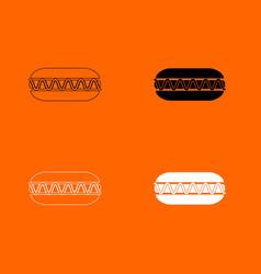 hot dog icon vector image