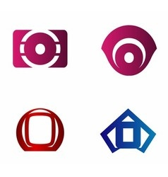 Letter O logo icon design template elements vector image vector image