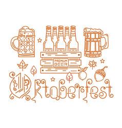 line logo icon for oktoberfest vector image vector image