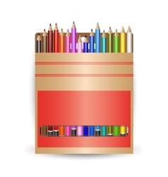 packing pencils A set of colored pencils vector image