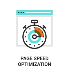 page speed optimization vector image
