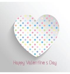 polka dot heart 1812 vector image vector image