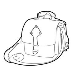 Postal bag icon outline vector