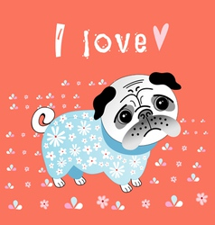 pug lover vector image vector image