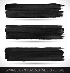 Set of grunge business banners vector image