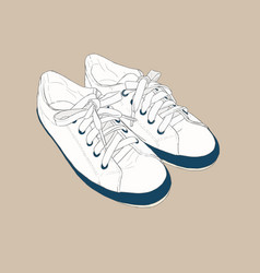 Sneakers hand drawn sketch style vector