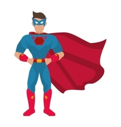 Superhero avatar superman comic design vector