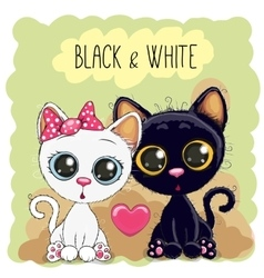Two cute cats vector