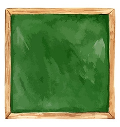 Watercolor Green school board Back to School vector image