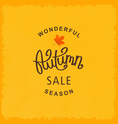 Wonderful autumn season sale vector