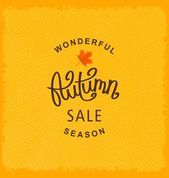 Wonderful autumn season sale vector