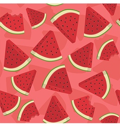 Seamless pattern watermelon triangle slice vector