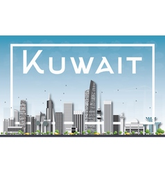 Kuwait City Skyline with Gray Buildings vector image