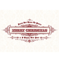 Merry Christmas vintage header vector image