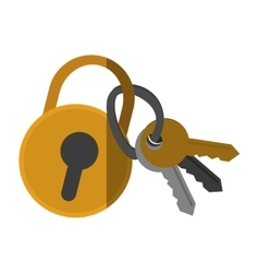 Isolated padlock and keys design vector