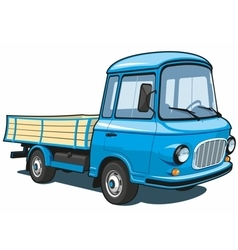 Cartoon blue small truck vector