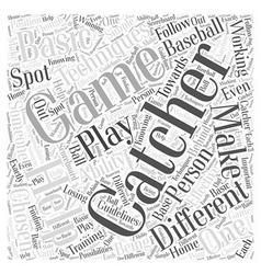 Techniques for the catcher word cloud concept vector
