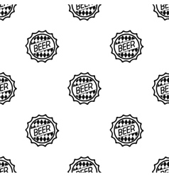 Bottle cap icon in black style isolated on white vector