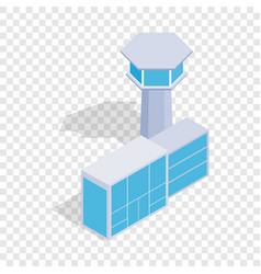 airport building isometric icon vector image