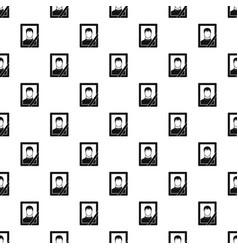 memory portrait pattern vector image