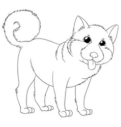 Outline animal for cute puppy vector
