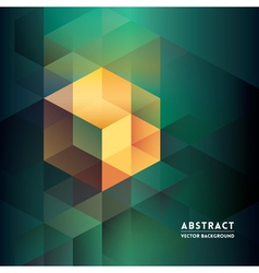 Abstract isometric shape background vector