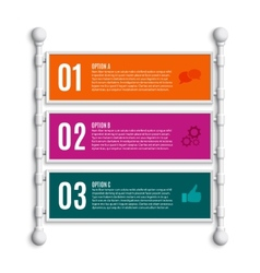 Options banners steps vector