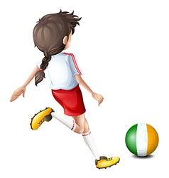 A soccer player from Ireland vector image