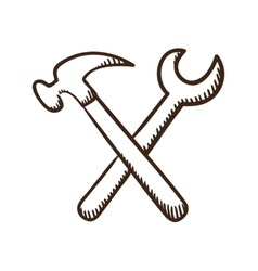 Wrench and screwdriver tools symbol vector image